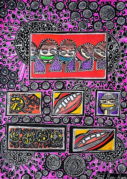 covid 19 art corona virus paintings mirit ben nun modern artist
