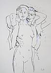 Frau mit Hemdbluse