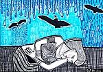 Israeli art works paintings and drawings art woman