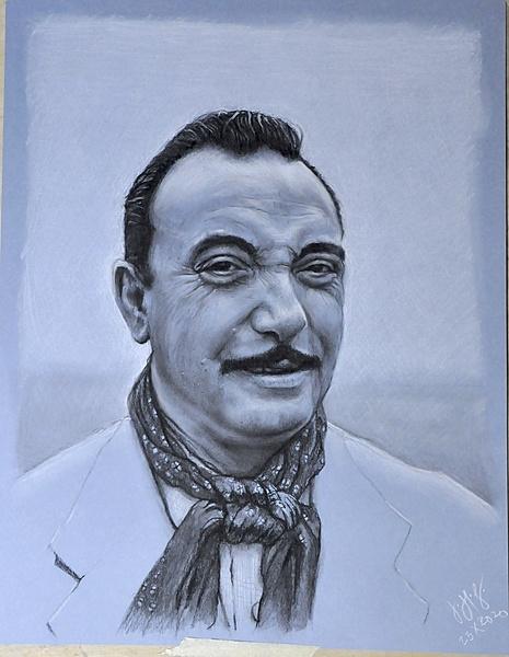 Portrait of Django Reinhardt