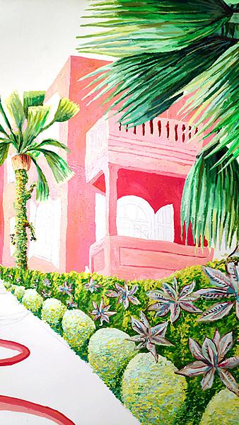 Work process of naive painting Naive art raphael perez painter