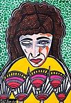 Rostro de mujer arte israeli Mirit Ben-Nun