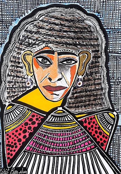 Cuadros de rostros unicos desde Israel Mirit Ben-Nun