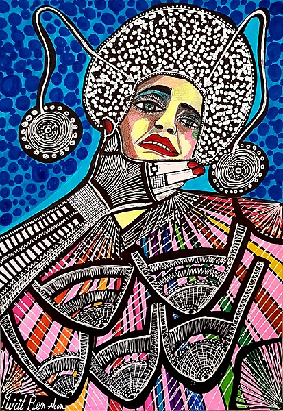 Mirit Ben-Nun Israeli art paintings and drawings art woman faces