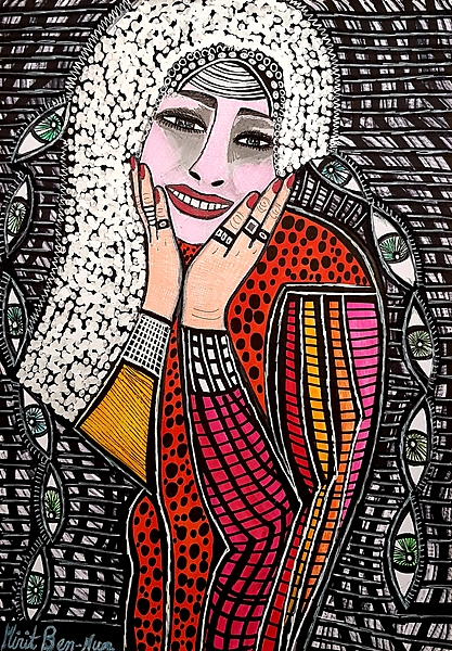 Colorful art by jewish artist Mirit Ben-Nun