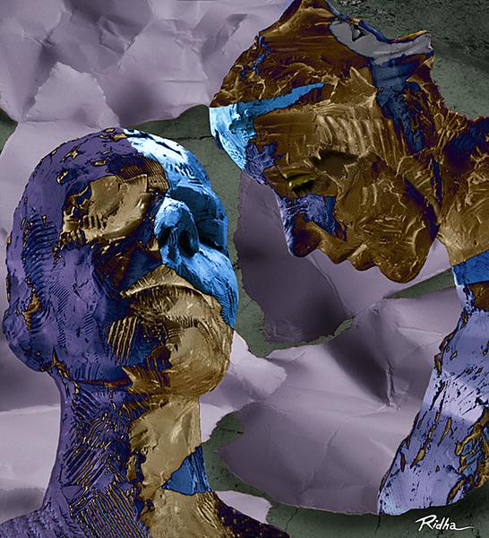 Virtual Meeting - Digital artwork by Ridha H