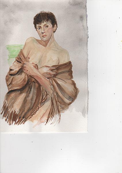 The fringed shawl