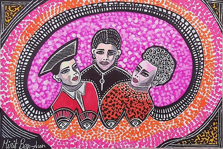Pop Art exhibition open house for groups Mirit Ben-Nun israel
