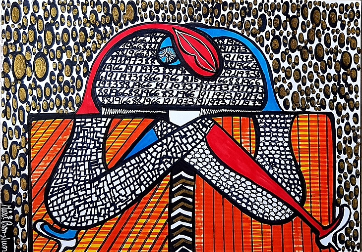 Visionary art Mirit Ben Nun Israeli works painting art