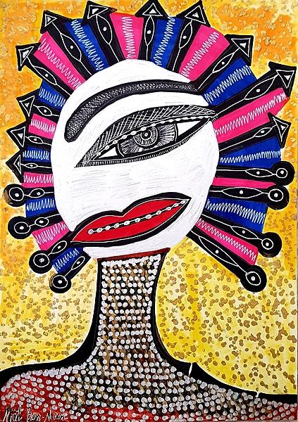Artist from Israel Mirit Ben-Nun studio modern paintings