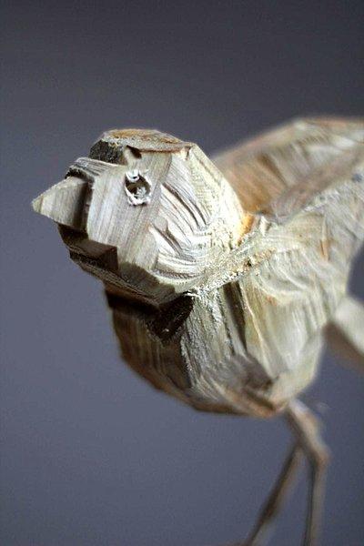 Wooden bird III