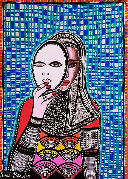 Feminist art paintings from Israel by Mirit Ben-Nun