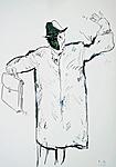 Bruder des Künstlers mit Kopfmaske I