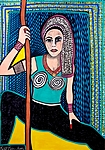 Feminist art paintings from Israel by Mirit Ben-Nun
