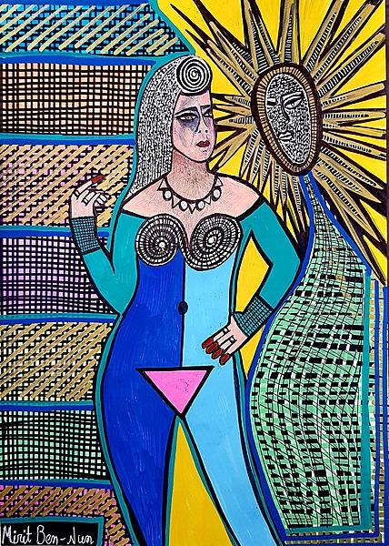 Art of feminism from Israel Mirit Ben-Nun drawings and paintings
