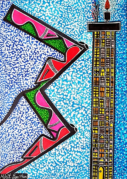 Israeli artwork paintings and drawings art woman faces