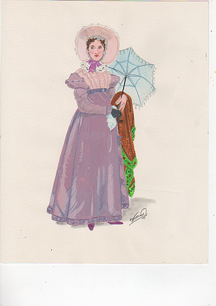 A lady with a parasol