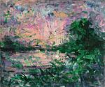 Sunrise river 52 x 62 cm