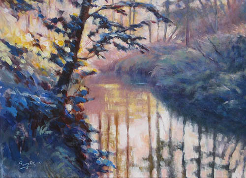 Morning river study