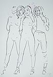 Drei weibliche Ganzfiguren