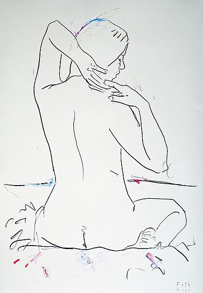 Studie einer unbekleideten Frau V