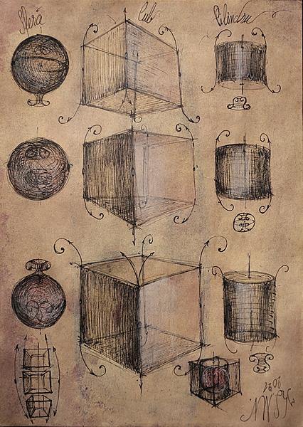 Cube perspective vortex