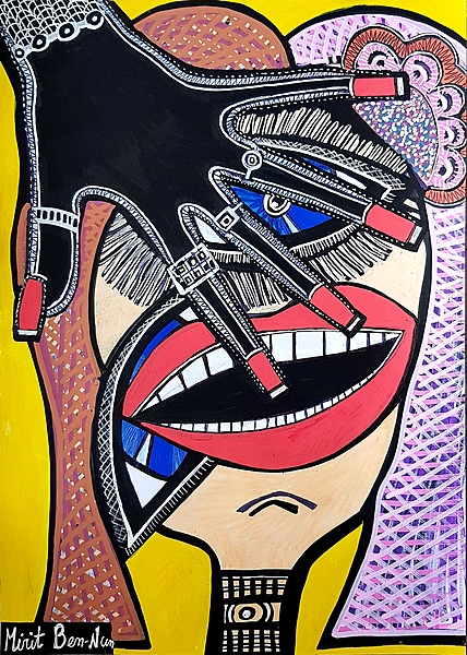 Art pictures feminism paintings by Mirit Ben-Nun