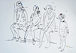 Der Künstler als Junge mit Geschwistern