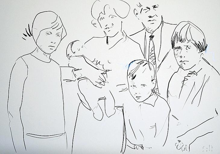 Gruppenbild mit Säugling