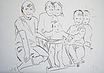 Der Künstler mit zwei Schwestern und kleinem Bruder