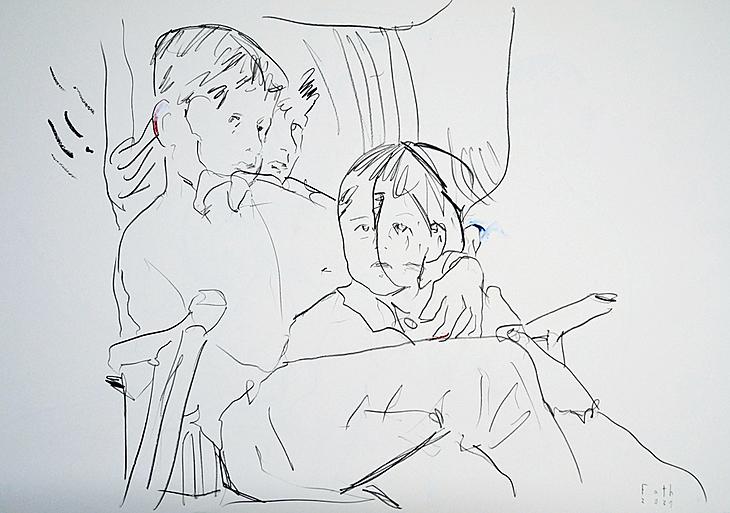 Der Künstler mit kleinem Bruder II