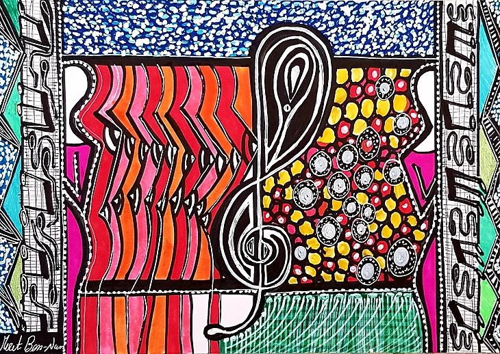 Mirit Ben Nun Israeli art works paintings and drawings art