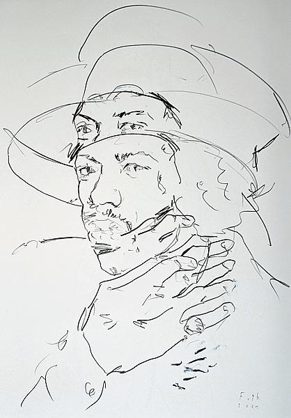 Jimi Hendrix, März-Studie