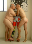gay couple kissing self portrait with oded raphael perez