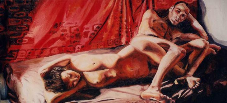 man woman realistic art