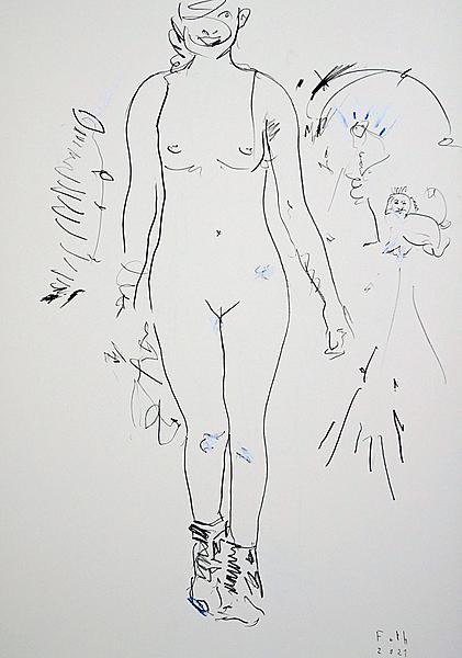Frau in Wanderschuhen II