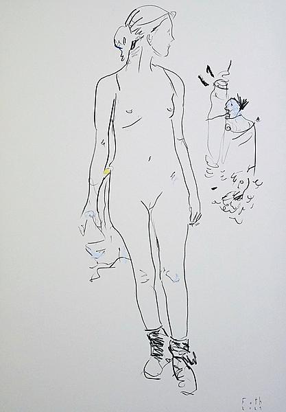Frau in Wanderschuhen III
