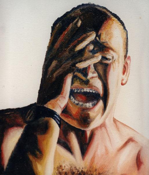 expressive self portrait painting