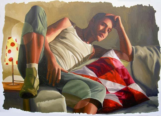 realism art of young man
