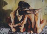 gay  couple hugging - queer  art