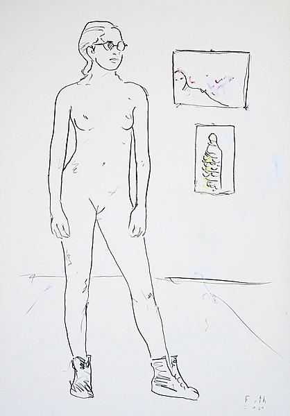 Besucherin einer Ausstellung