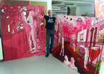 red  large paintings