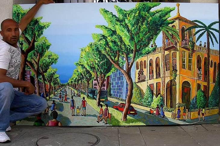 rotshild  street  tel aviv paintings