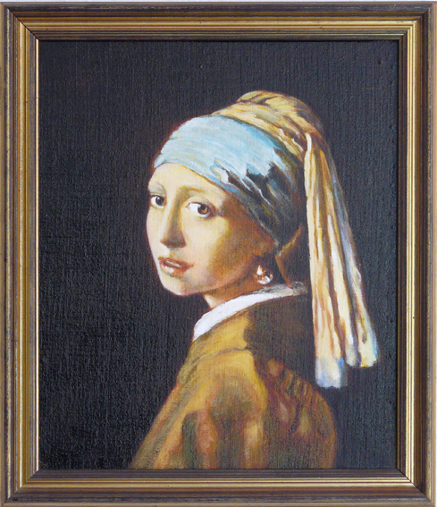Girl with the Pearl Earring, study after Vermeer