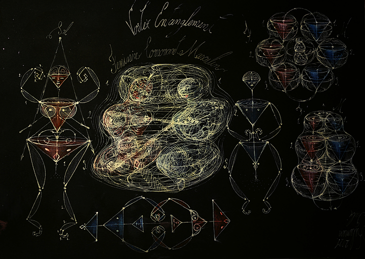 Human entanglement Hexagon