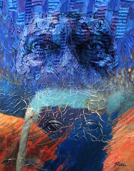 Incomprehensible Dialogue 2 - Digital Artwork - Ridha H