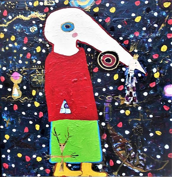 DER KLEINE PRINZ, 2021, 100 x 100 cm, canvas