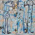 GROSSSTÄDTER, 2021, 100 x 100 cm, canvas