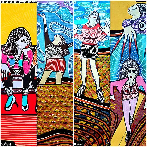 Naive paintings by israeli artist Mirit Ben-Nun