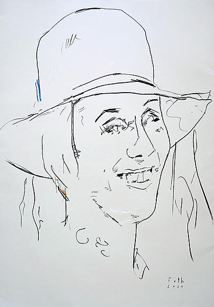 Junge Frau, lachend